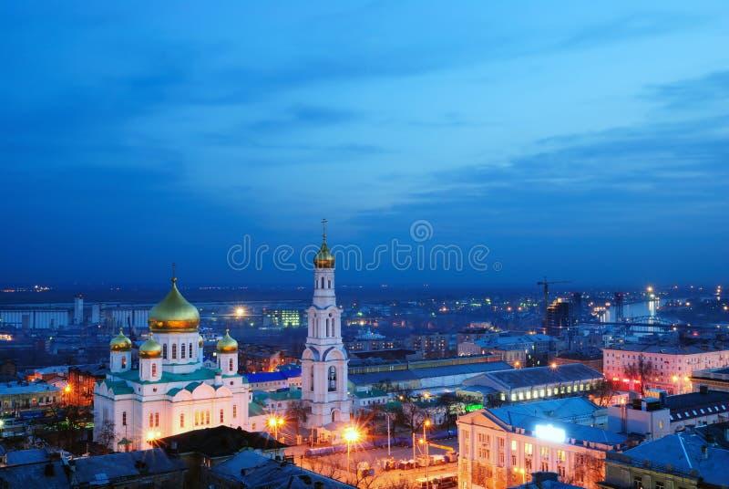 Kathedrale. Rostov-on-Don. lizenzfreies stockfoto