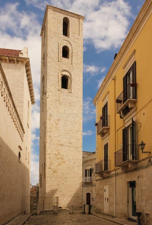Kathedrale ` s Glockenturm Ruvo-Di Puglia Apulien Italien stockbild