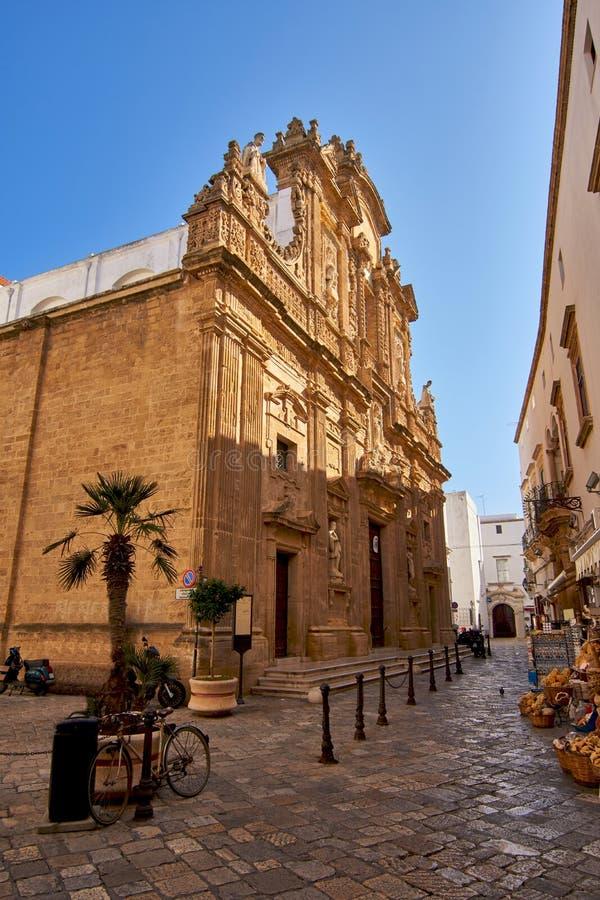 Kathedrale Sant'Agata in Gallipoli, Salento, Apulien, Italien lizenzfreies stockfoto