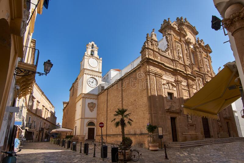 Kathedrale Sant'Agata in Gallipoli, Salento, Apulien, Italien stockfoto