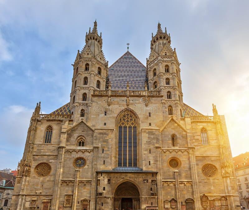 Kathedrale St. Stephan in Wien stockbild