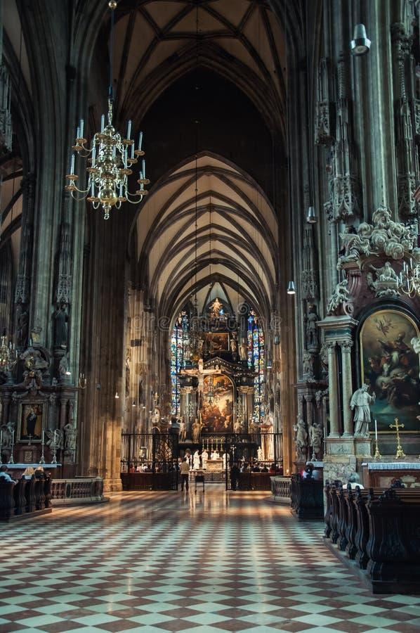 Kathedrale St. Stephens (Stephansdom) in Wien lizenzfreie stockfotografie