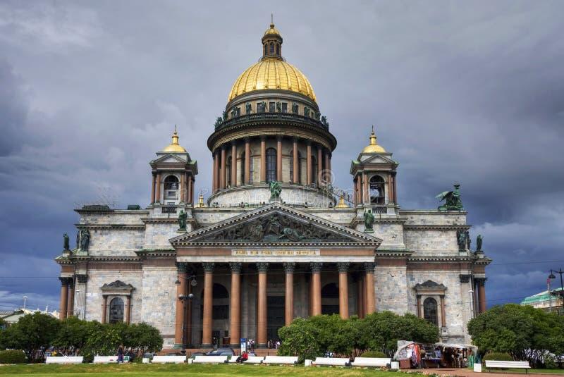 Kathedrale Str.-Isaac, St Petersburg, Russland. stockfotografie