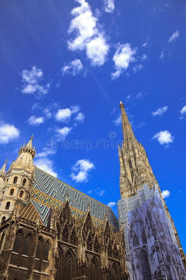 Kathedrale Str.-Stephan in Wien, Österreich stockbilder