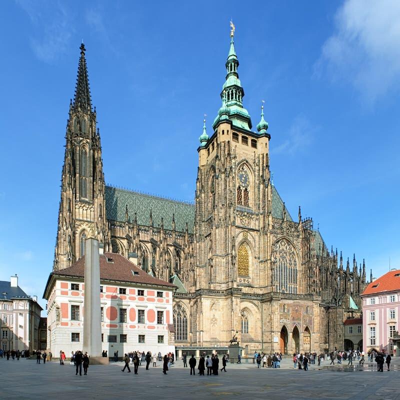 Kathedrale Str.-Vitus in Prag stockbild