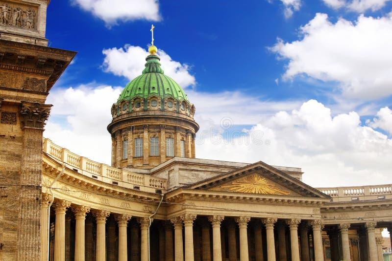 Kathedrale unserer Dame von Kazan, St Petersburg lizenzfreies stockfoto