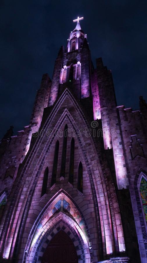 Kathedrale unserer Dame von Lourdes in Canela, Brasilien stockbilder