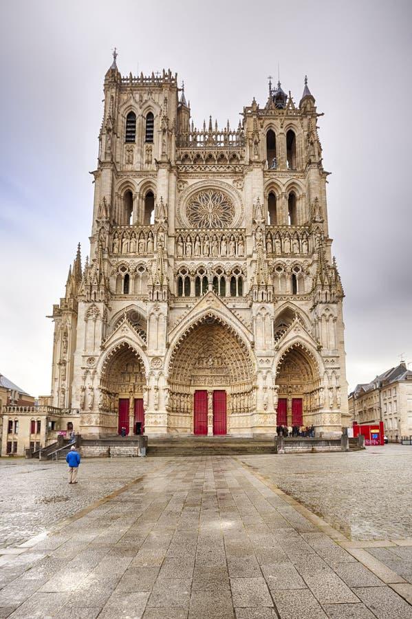 Kathedrale von Amiens stockbilder