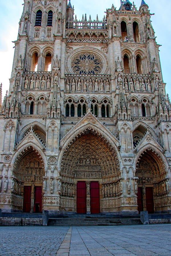 Kathedrale von Amiens Französische gotische Architektur lizenzfreies stockfoto