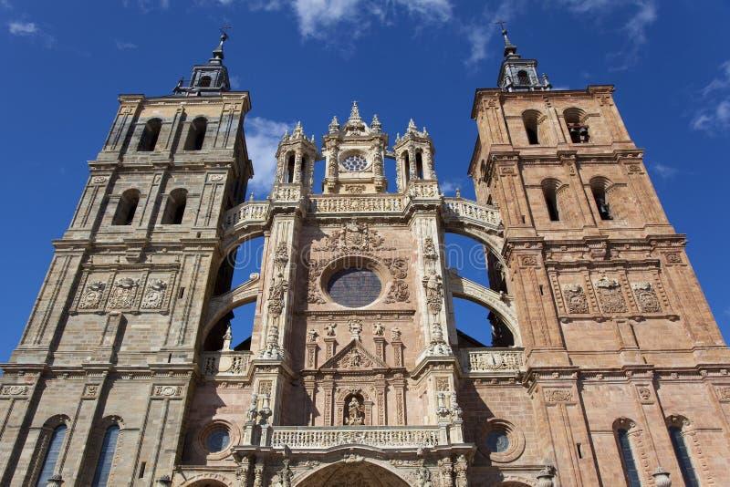 Kathedrale von Astorga stockfoto