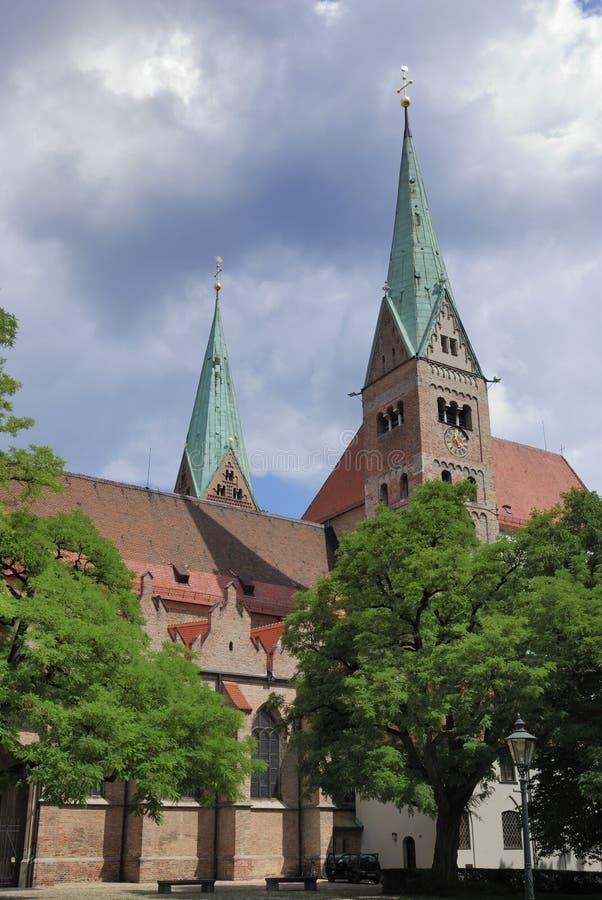 Kathedrale von Augsburg stockbilder