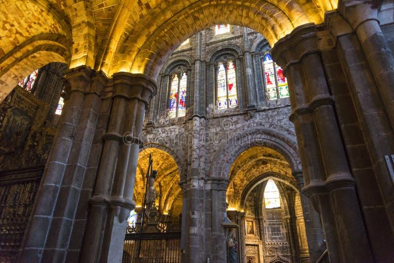 Kathedrale von Avila, Avila, Kastilien y Leon, Spanien lizenzfreies stockbild