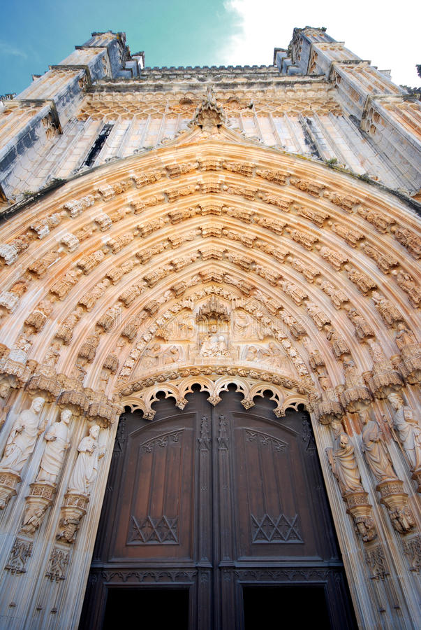 Kathedrale von Batalha (Portugal). stockfotos