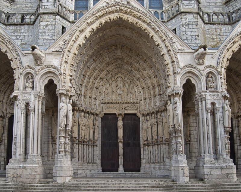 Kathedrale von Chartres lizenzfreie stockfotografie