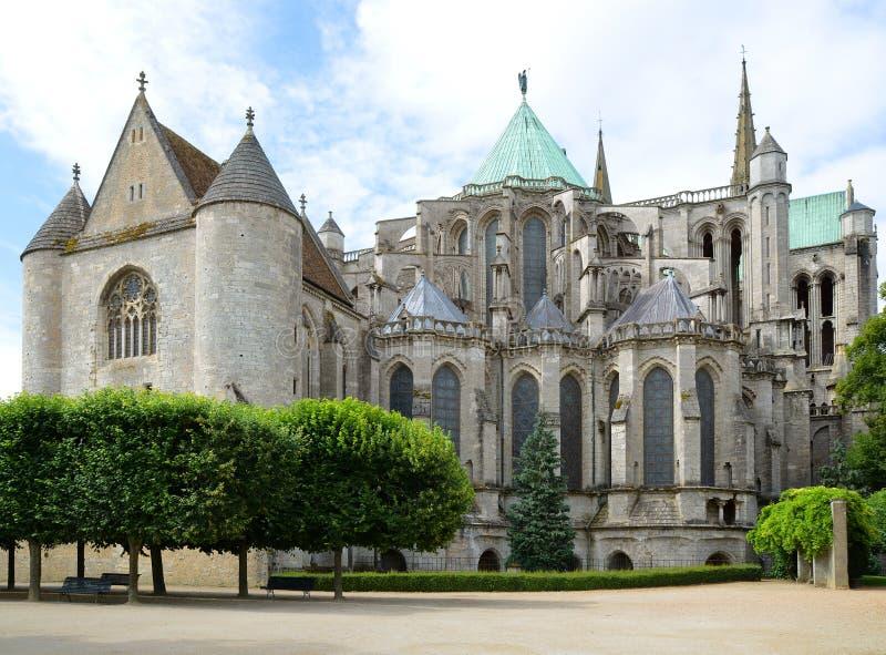 Kathedrale von Chartres Frankreich lizenzfreie stockbilder