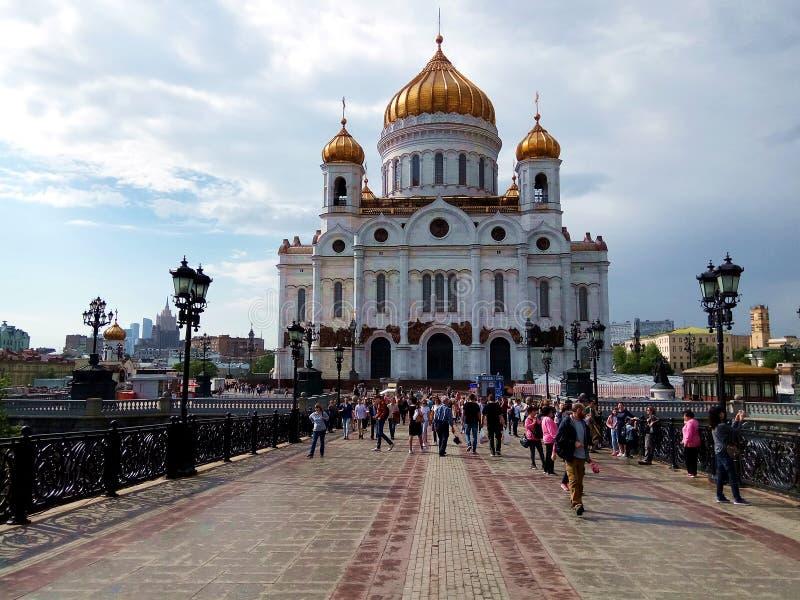 Kathedrale von Christ der Retter in Moskau der Haupttempel von Russland stockbilder