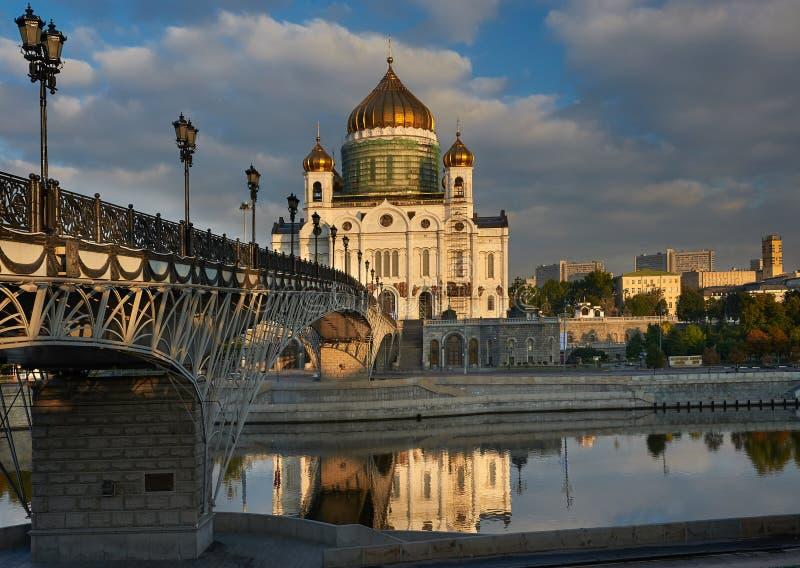 Kathedrale von Christ der Retter nahe Moskva Fluss, Moskau Russi stockfotografie