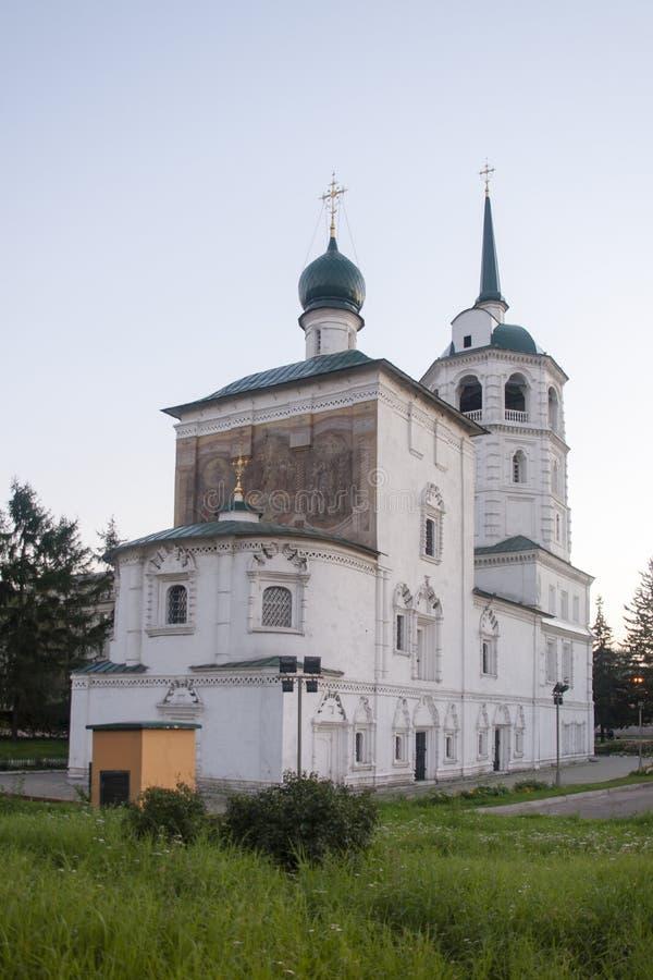 Kathedrale von Christus der Retter in Irkutsk, Russische Föderation lizenzfreies stockfoto