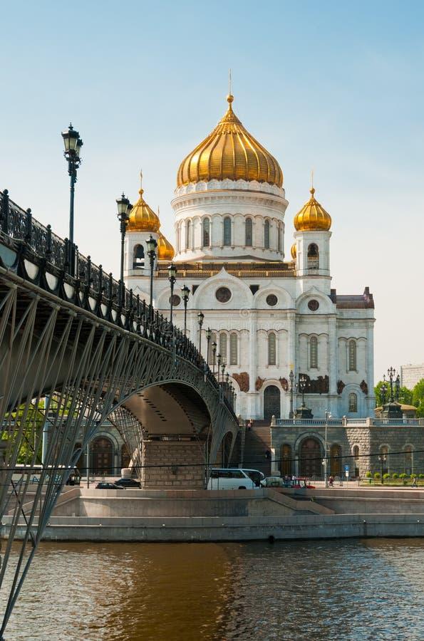 Kathedrale von Christus der Retter nahe Moskva Fluss, Moskau. lizenzfreie stockfotografie