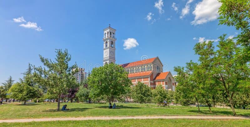 Kathedrale von gesegneter Mutter Teresa in Pristina stockfotos