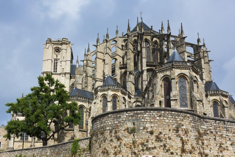 Kathedrale von Le Mans lizenzfreie stockfotos