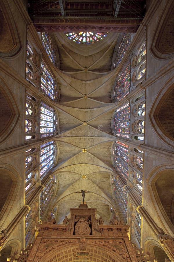 Kathedrale von Leon stockfotografie