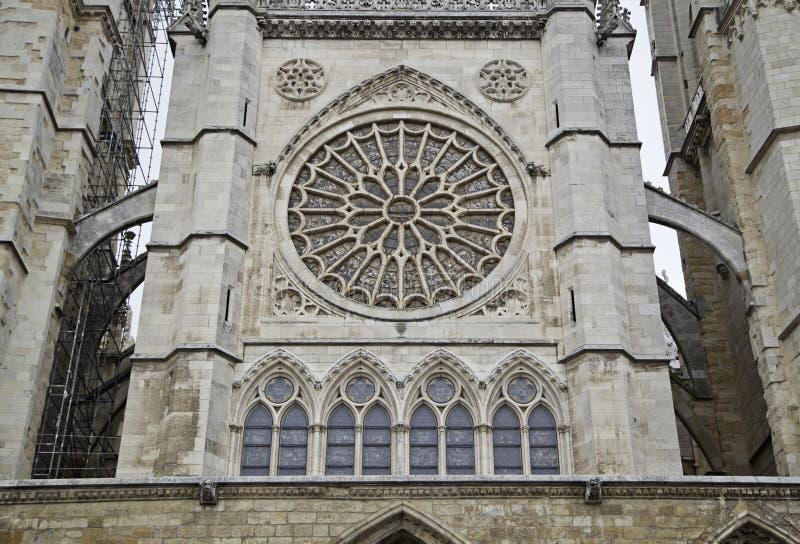 Kathedrale von Leon lizenzfreies stockfoto