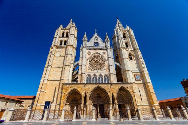 Kathedrale von Leon, Spanien stockfoto