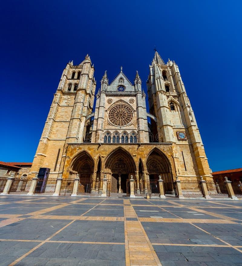 Kathedrale von Leon, Spanien lizenzfreies stockfoto