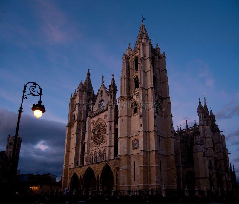Kathedrale von Leon. Spanien lizenzfreie stockbilder