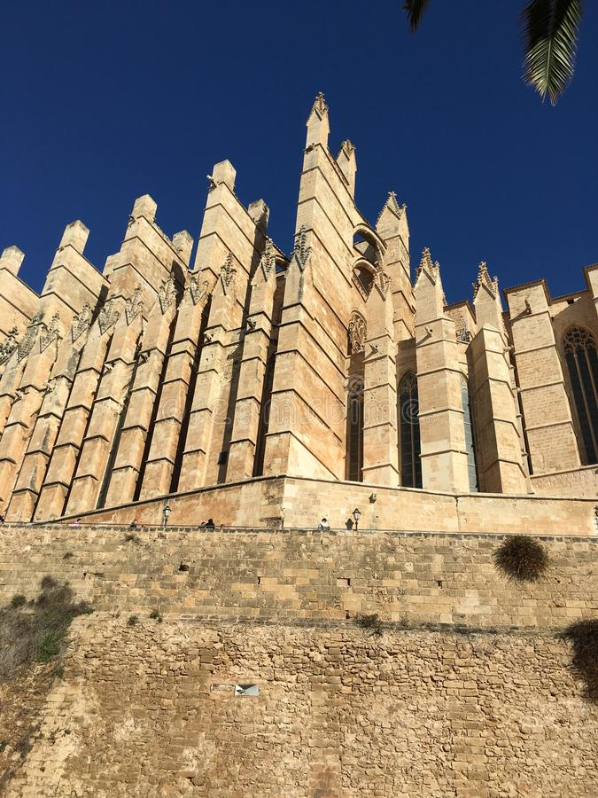 Kathedrale von Mallorca lizenzfreie stockbilder