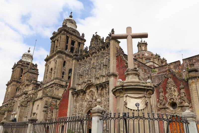 Kathedrale von Mexiko City VI stockfotos