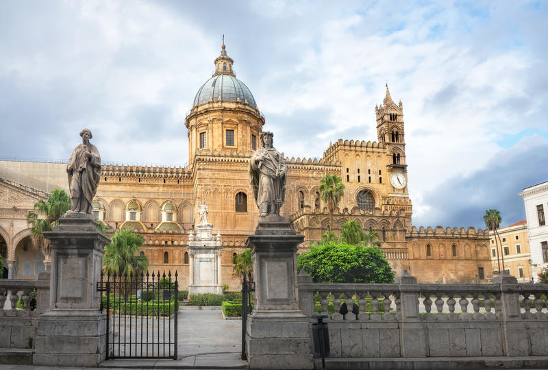 Kathedrale von Palermo stockfoto