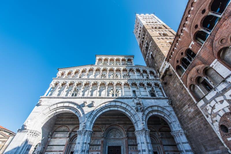 Kathedrale von San Maritino in Lucca, Italien stockbild