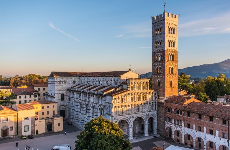 Kathedrale von San Maritino in Lucca, Italien lizenzfreie stockfotos
