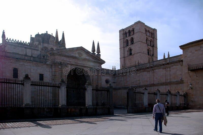 Kathedrale von San Salvador in Zamora stockbilder