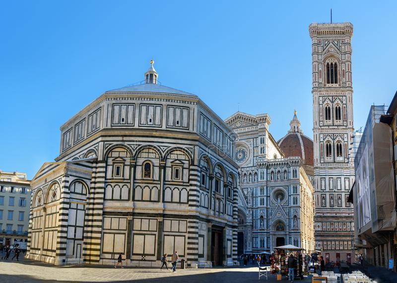 Kathedrale von Santa Maria del Fiore, Duomo in Florenz Italien stockbilder