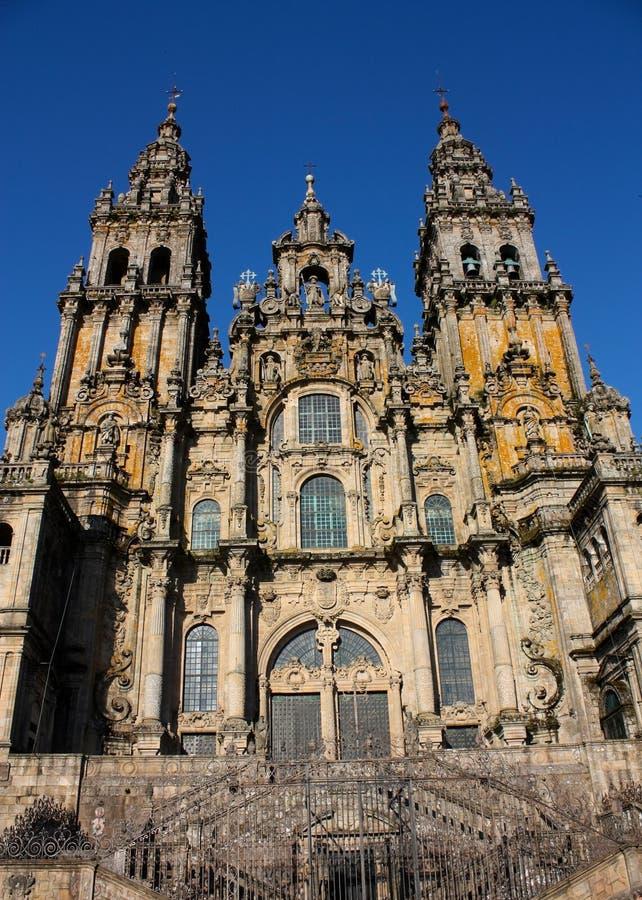 Kathedrale von Santiago de Compostela stockbild