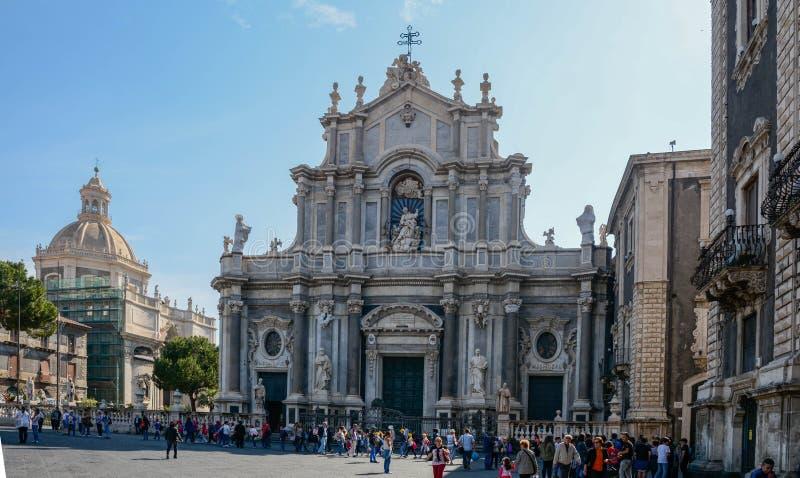 Kathedrale von St. Agatha - Catania Sizilien lizenzfreies stockfoto