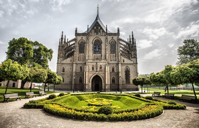 Kathedrale von St Barbara in Kutna Hora stockbilder