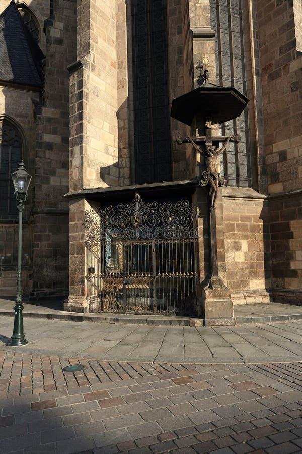 Kathedrale von St Bartholomew, alte Architektur, Pilsen, Tschechische Republik lizenzfreies stockbild