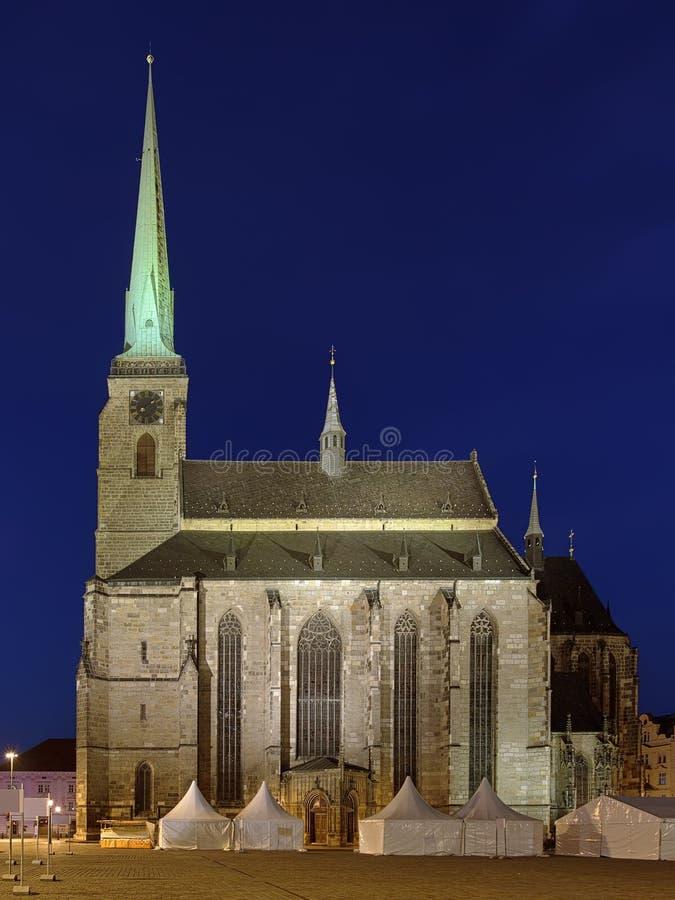 Kathedrale von St Bartholomew in Plzen, Tschechische Republik lizenzfreie stockfotografie