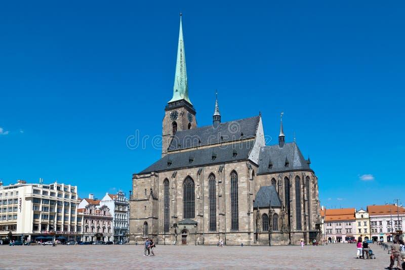 Kathedrale von St Bartholomew, Plzen, Tschechische Republik lizenzfreies stockbild
