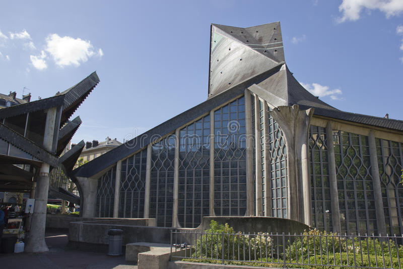 Kathedrale von St. Jeanne d'Arc stockbild