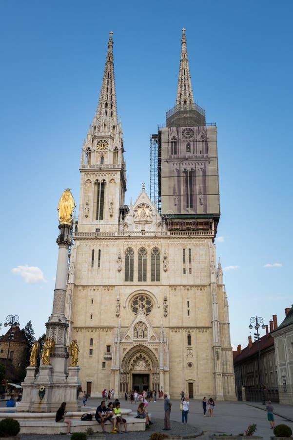 Kathedrale von Zagreb, Kroatien lizenzfreies stockfoto