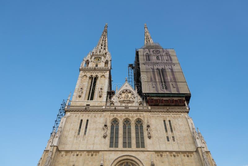 Kathedrale von Zagreb, Kroatien stockfoto