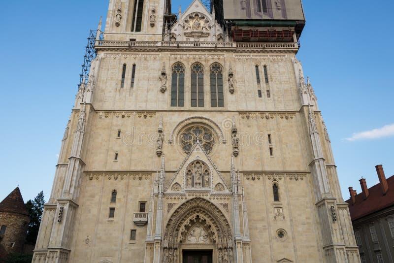 Kathedrale von Zagreb, Kroatien stockfotos