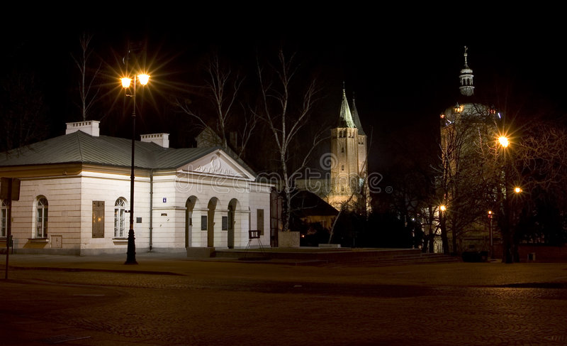 Kathedralekirche Plock Polen. lizenzfreies stockfoto