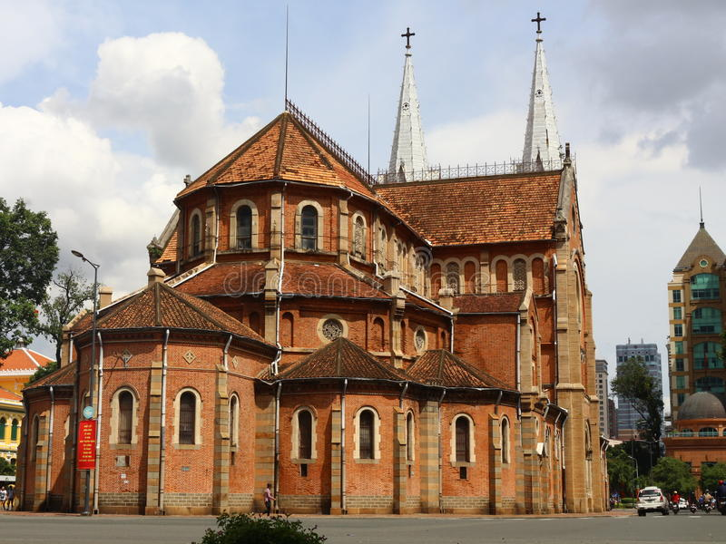 Kathedralen-Basilika der Unbefleckten Empfängnis, Saigon lizenzfreies stockbild