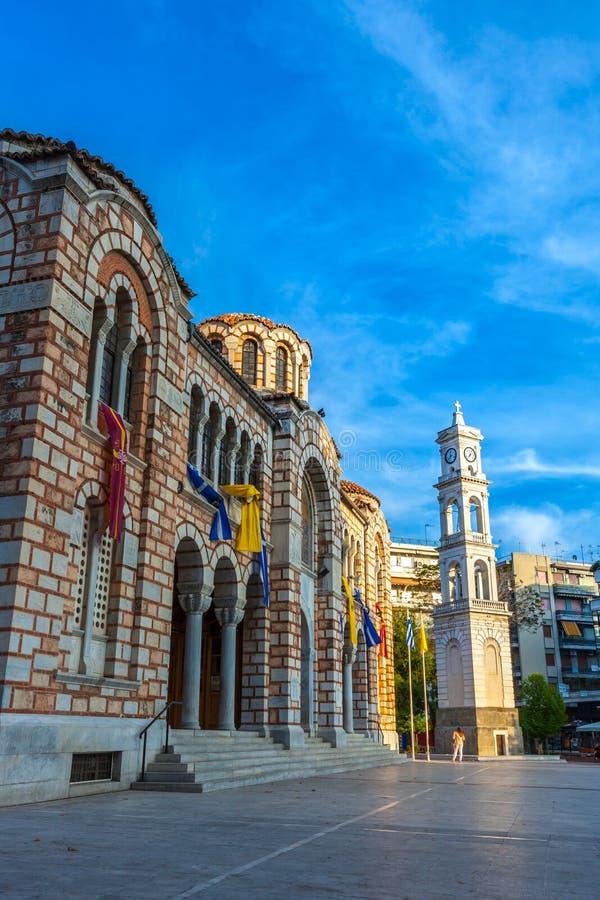 Kathedralen-Kirche von Sankt Nikolaus, Volos, Griechenland - April 2017 stockbilder